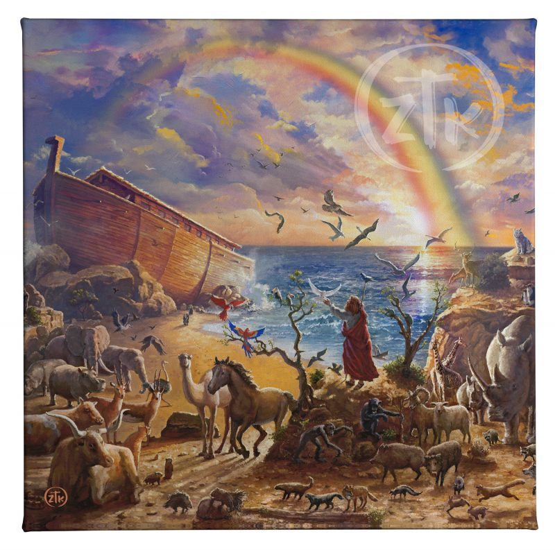 """Noah's Ark - 14"""" x 14"""" Gallery Wrapped Canvas"""