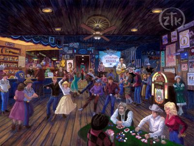 Hank's Honky Tonk - Limited Edition Canvas