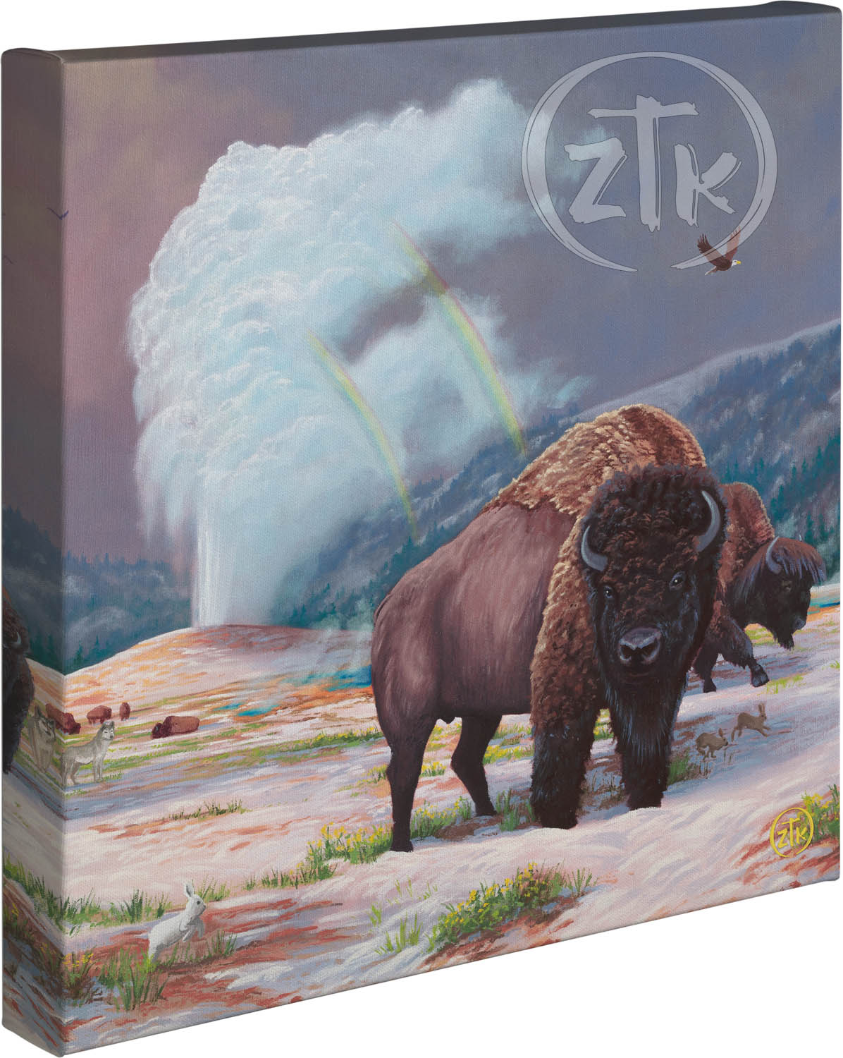 """Spirit of Yellowstone - 14"""" x 14"""" - Gallery Wrapped Canvas"""