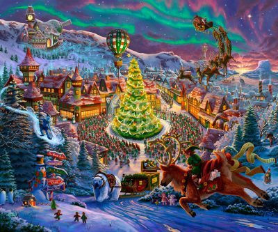 Santa's North Pole - Limited Edition Canvas